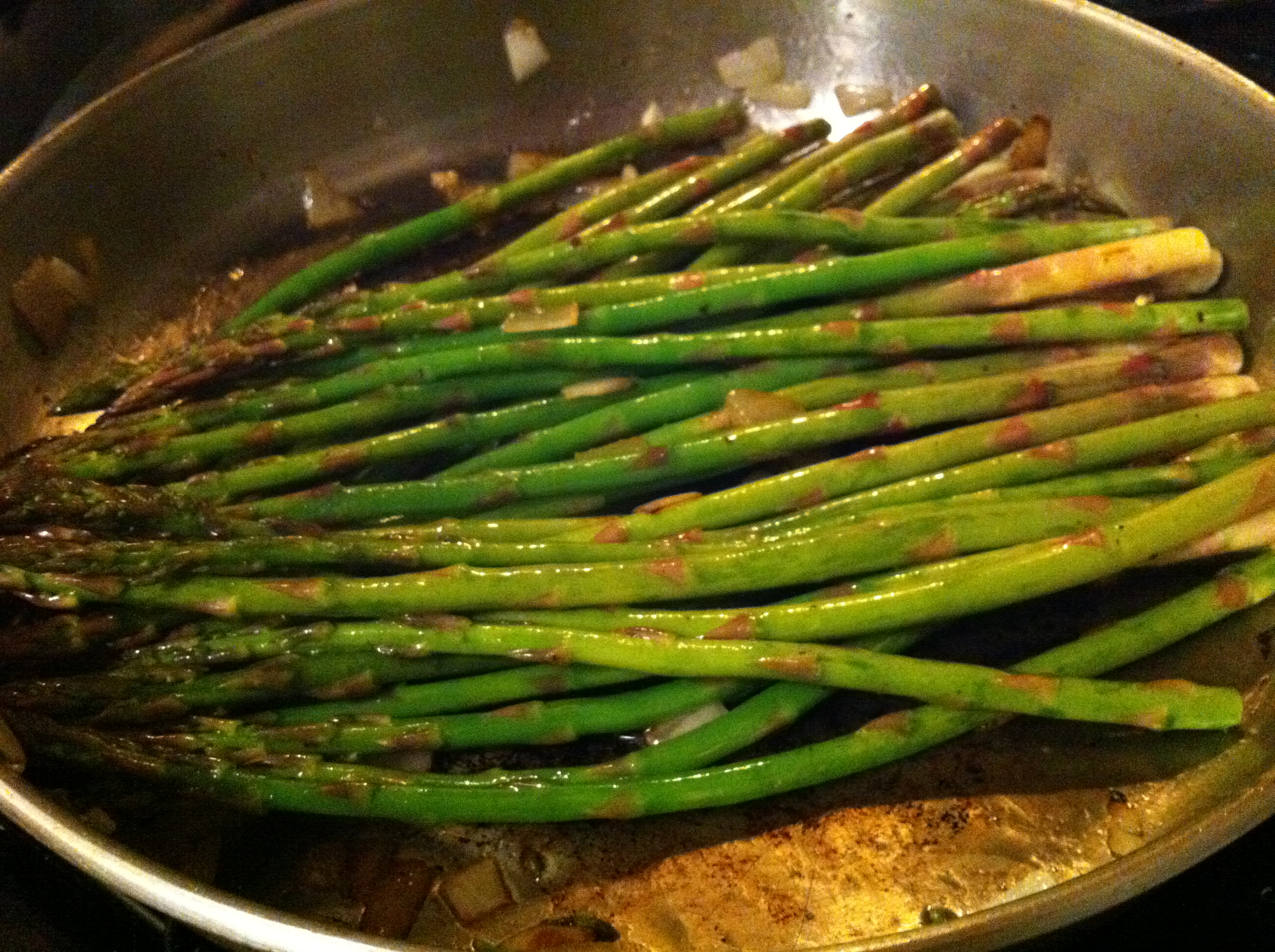 how to cook asparagus in electric skillet