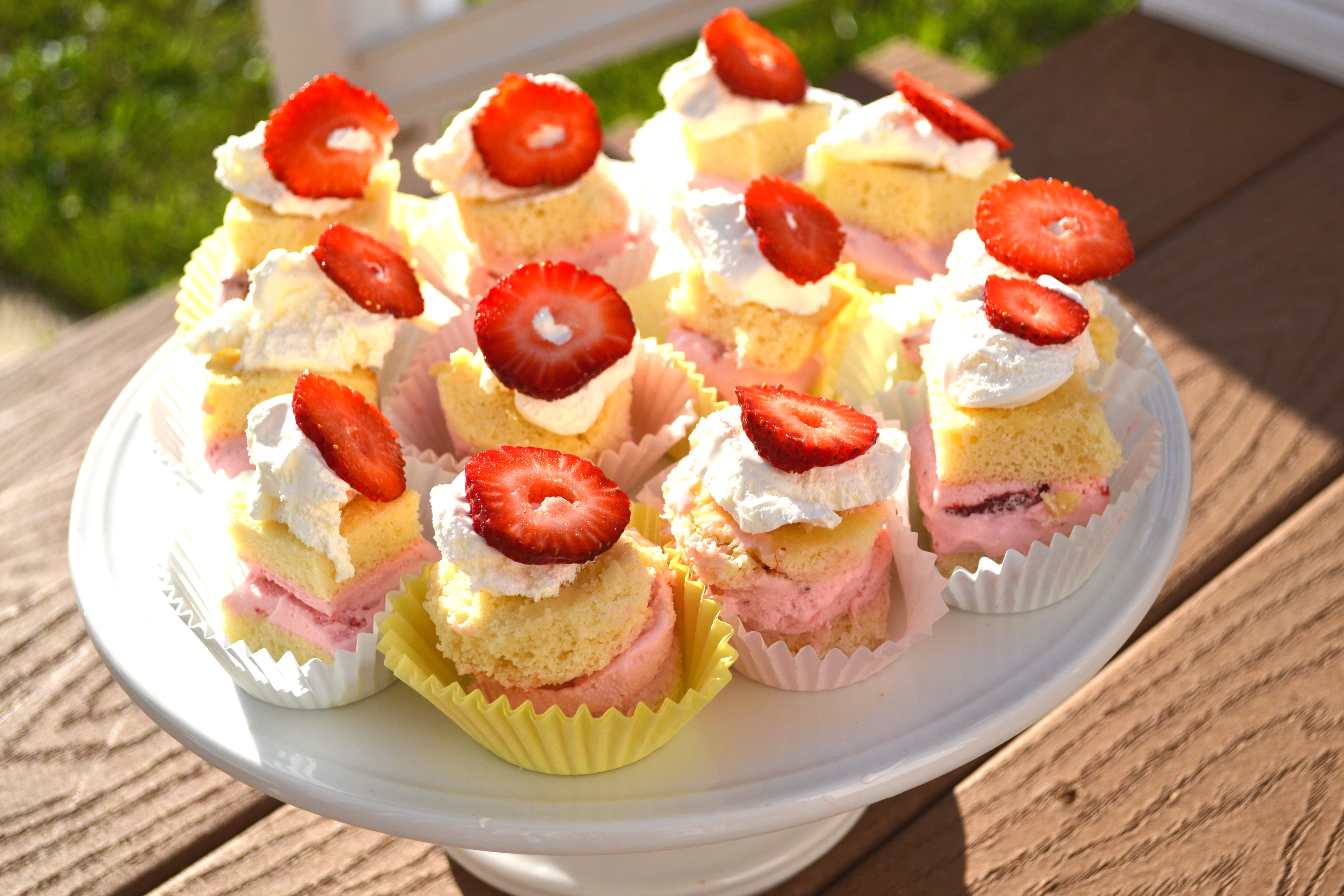Esbs Mini Strawberry Ice Cream Cakes The Realistic