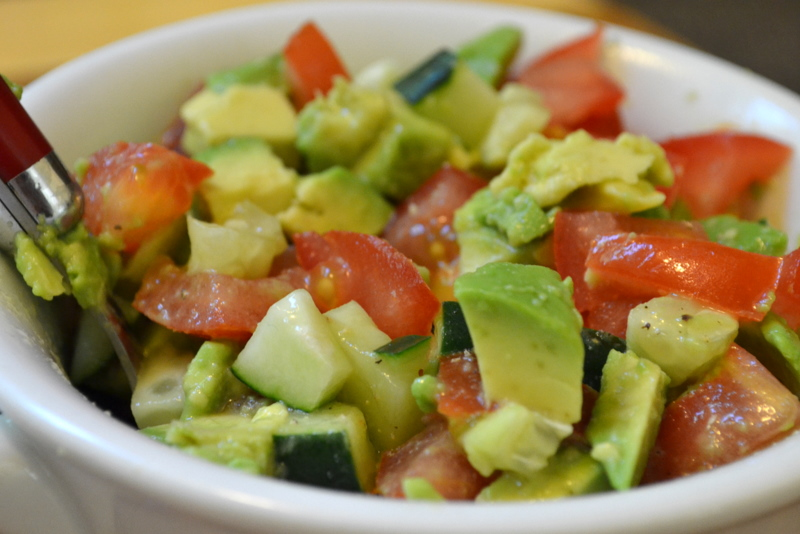 ... Skinny Be Skinny: Chicken Tacos with Tomato, Cucumber & Avocado Salsa