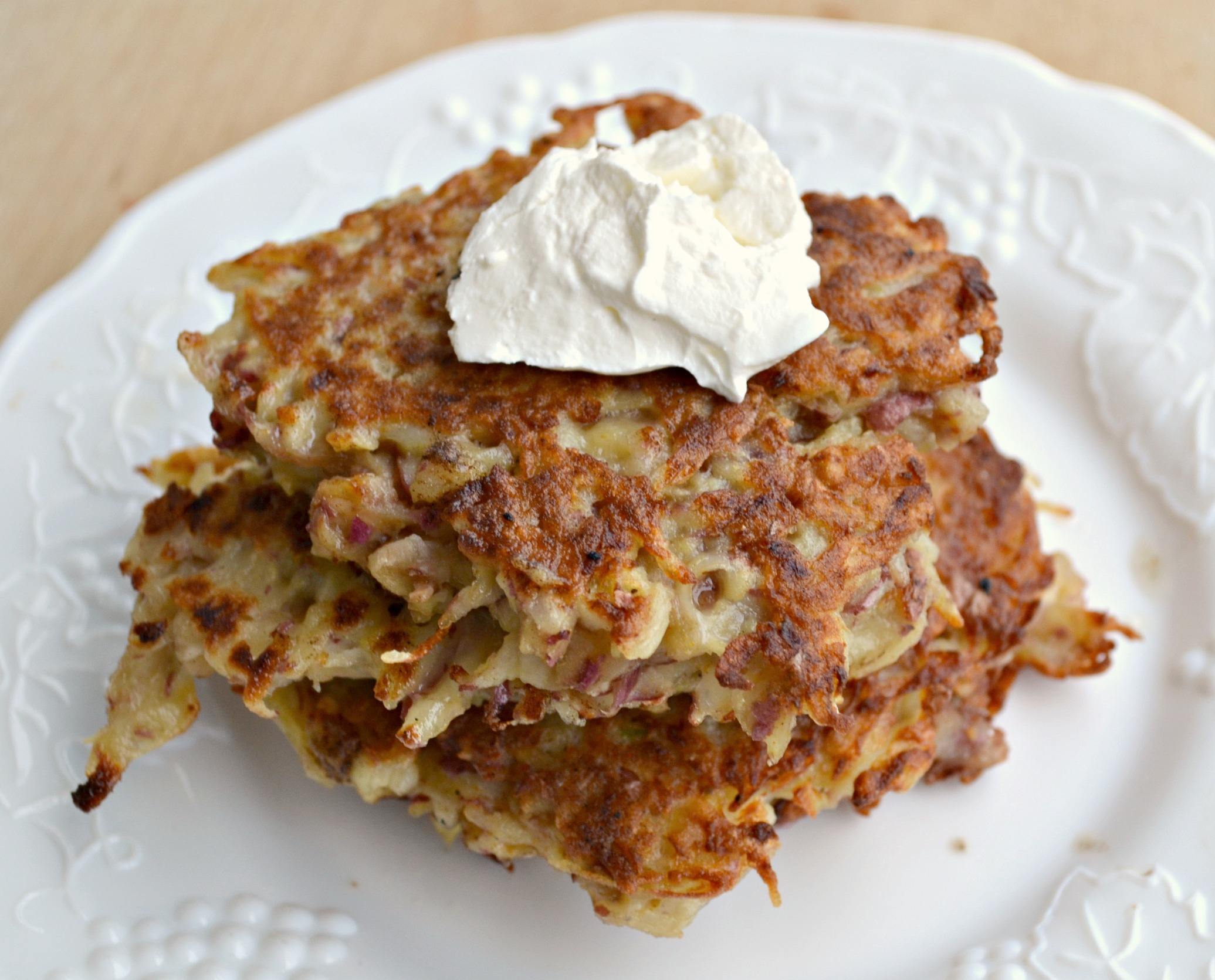 Spicy Potato Latkes The Realistic Nutritionist
