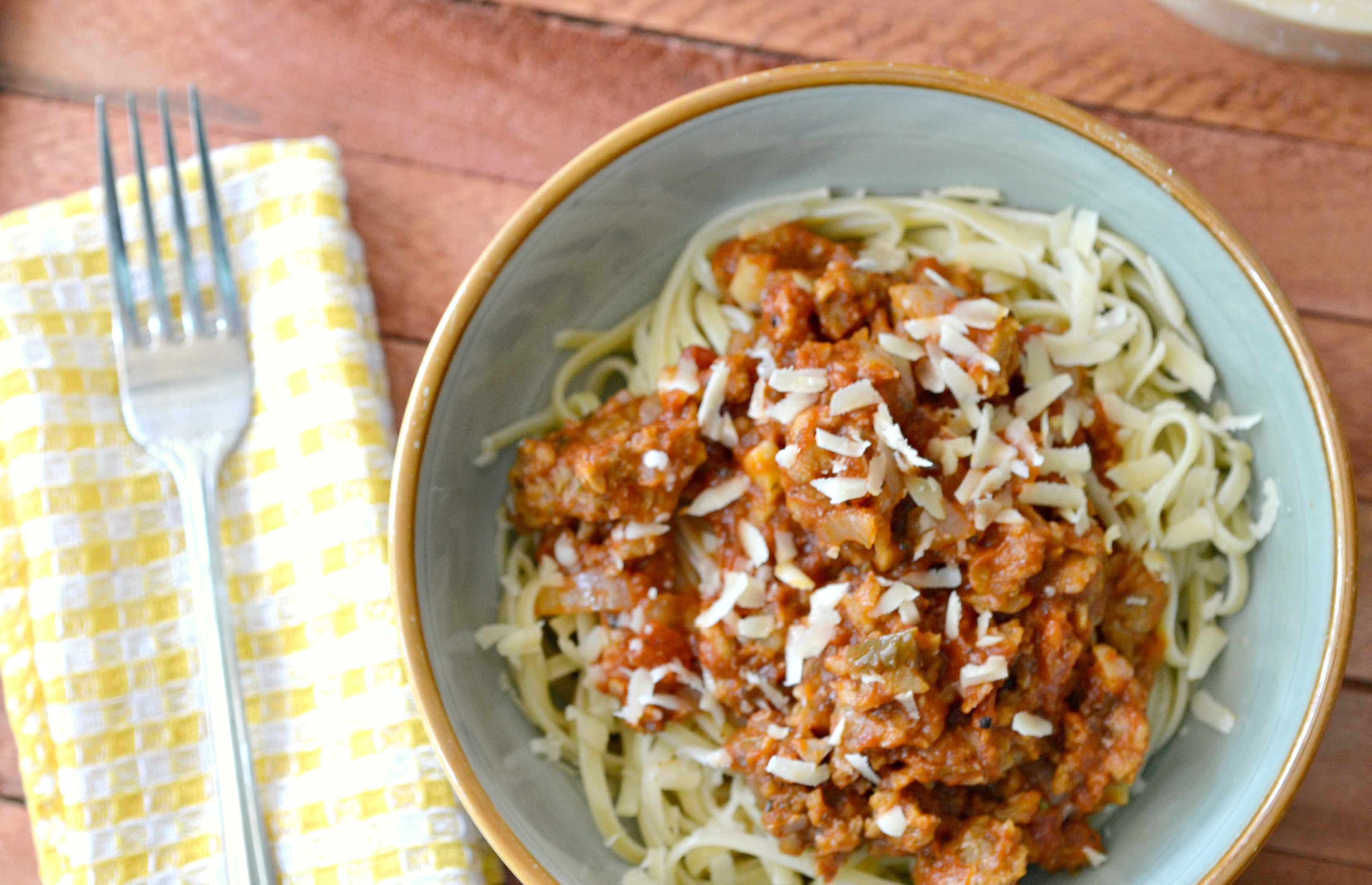 Spaghetti with vegetarian meat sauce recipe forumfinder Images