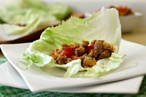 Vegetarian Lettuce Wraps Recipe | The Realistic Nutritionist