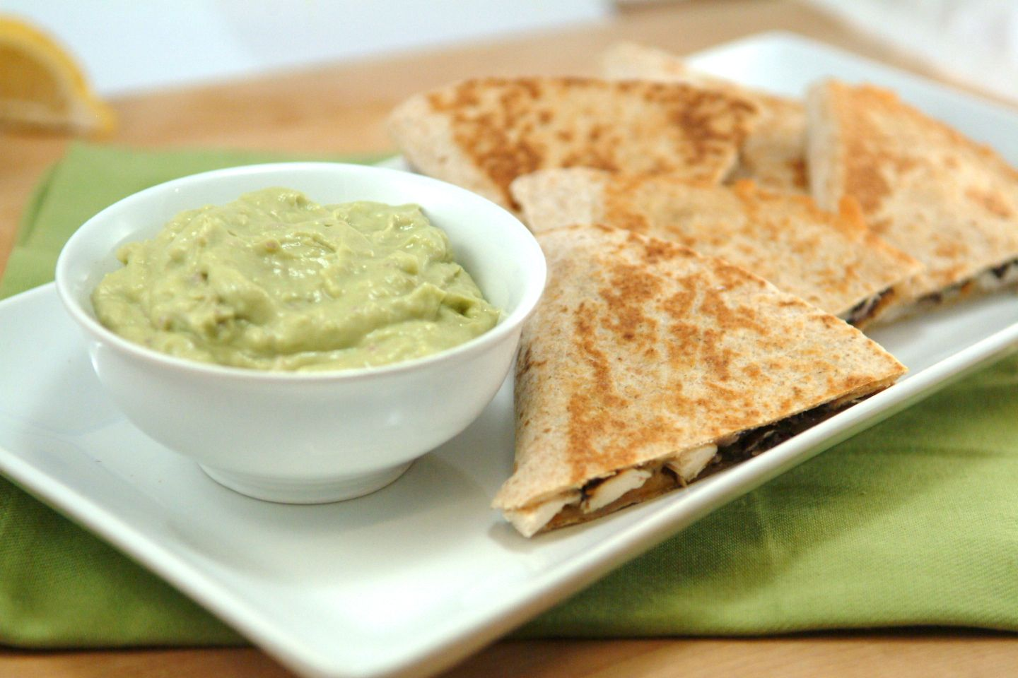 Chicken Quesadillas with Creamy Avocado Dip [& Giveaway!]