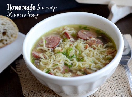 Homemade Sausage Ramen Soup