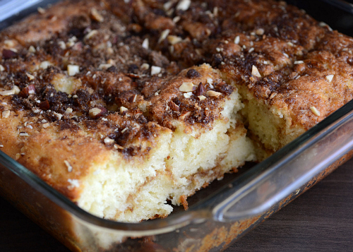Low fat coffee cake