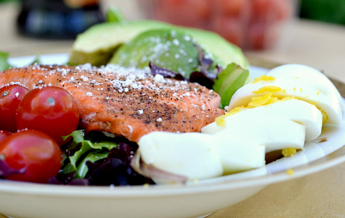 Skinny Salmon Cobb Salad