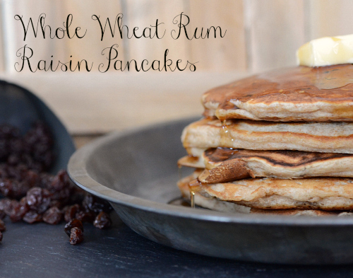 Whole wheat rum raisin pancakes