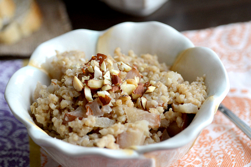 pear and honey steelcut oats