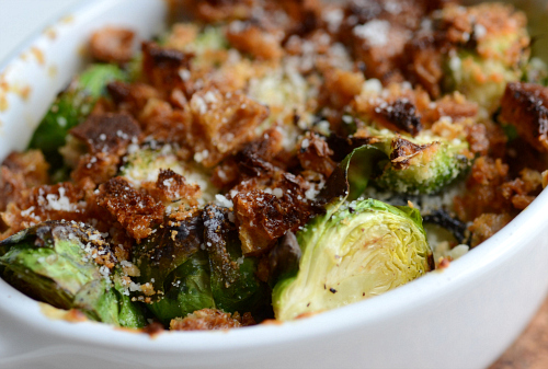 Light brussel sprout gratin