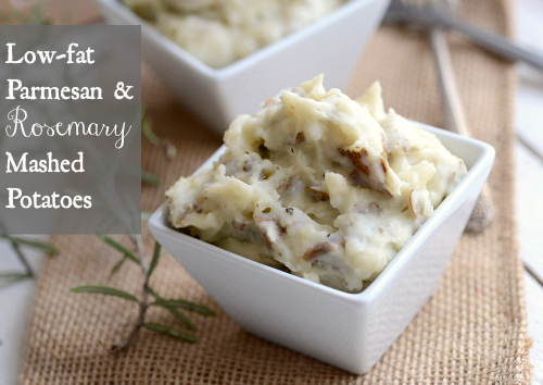 Low fat parmesan rosemary mashed potatoes