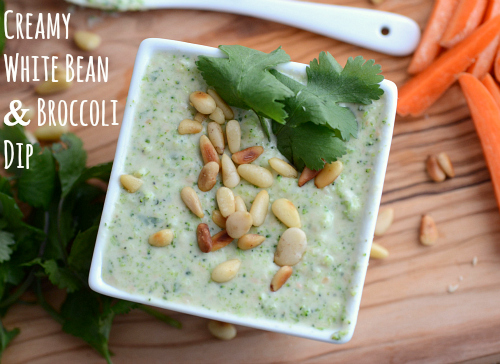 White bean and broccoli dip