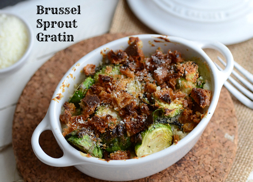 Brussel Sprouts Gratin | The Realistic Nutritionist