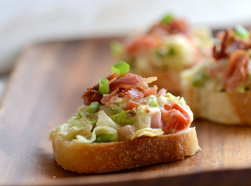 Wedge Salad Crostini
