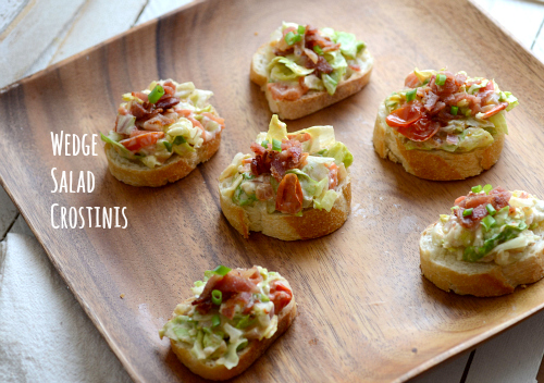 Wedge salad crostini appetziers