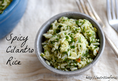 Spicy cilantro rice