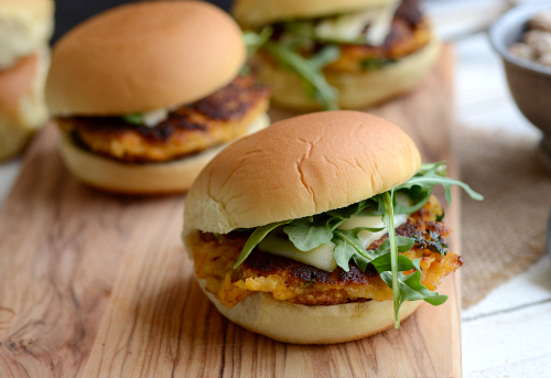 Vegetarian chick pea sliders