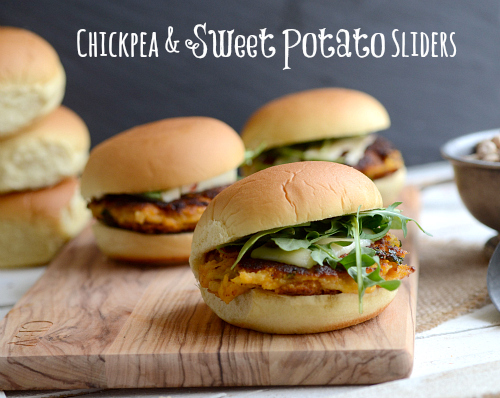 chickpea sweet potato sliders