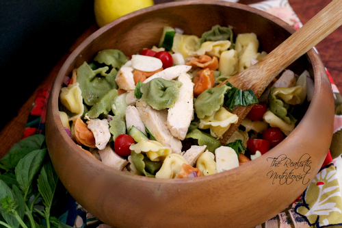 Easy chicken tortellini salad