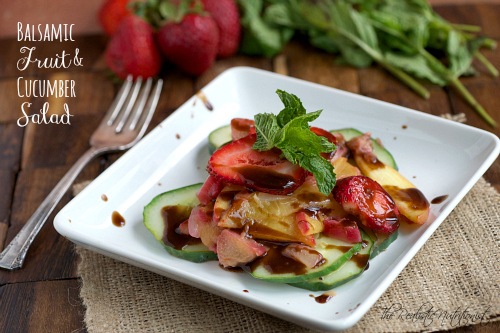 Balsamic Fruit Salad - The Realistic Nutritionist