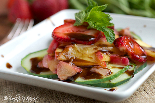 Fruit and cucumber salad with balsamic - nutritionfor.us