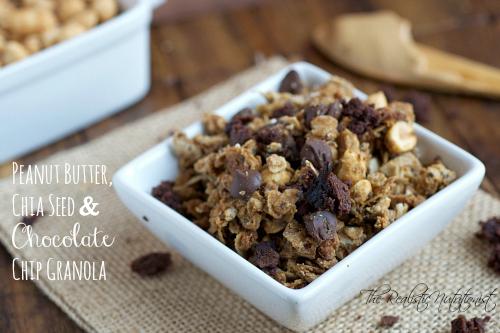 PB chia seed CC granola - The Realistic Nutritionist