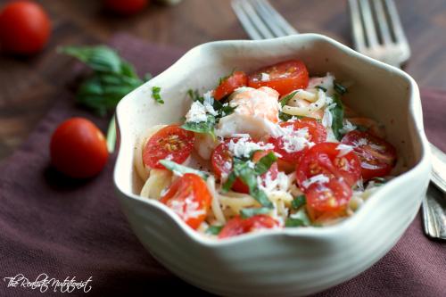 Creamy shrimp pasta2