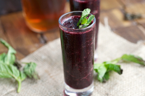 Boozy Blueberry Shooter