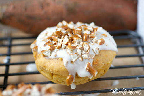Sweet potato pretzel donuts