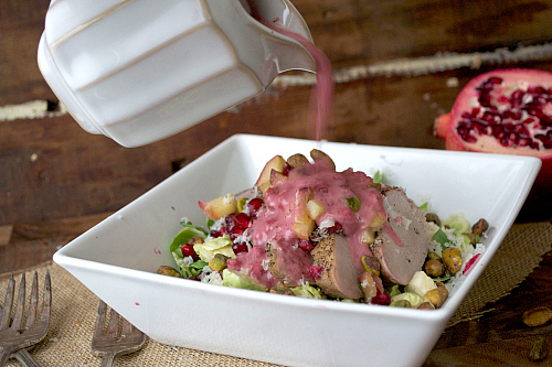 pork and pomegranate salad