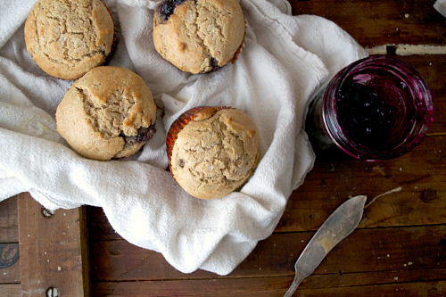 Healthy muffins with jam