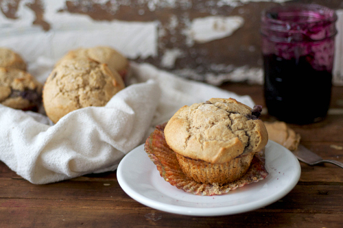 Healthy peanut butter muffins