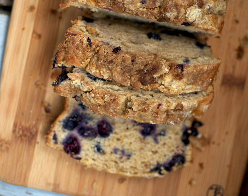 Luscious banana and blueberry bread.jpg