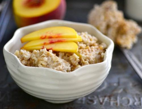 Amazing peaches n cream oats