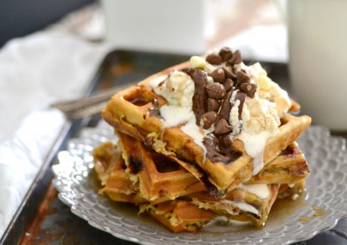 Double chocolate waffles