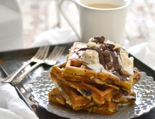 amazing banana waffles