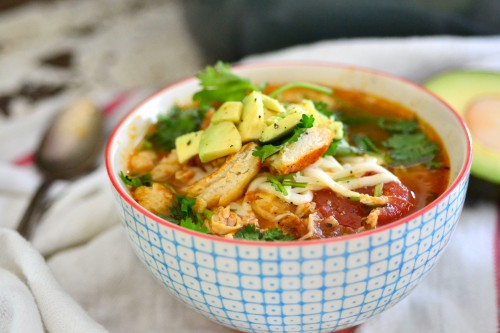 One pot easy chicken tortilla soup
