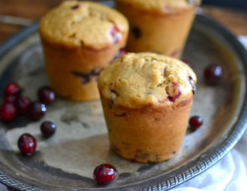 Amazing blackberry cranberry muffins