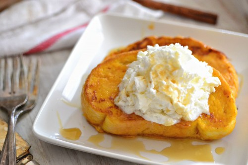 perfect french toast with pumpkin