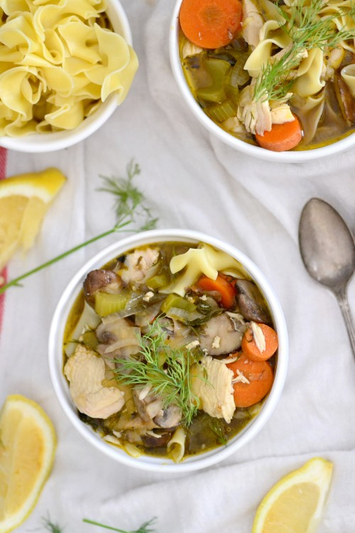 Easy Roasted Chicken Noodle Soup | The Realistic Nutritionist