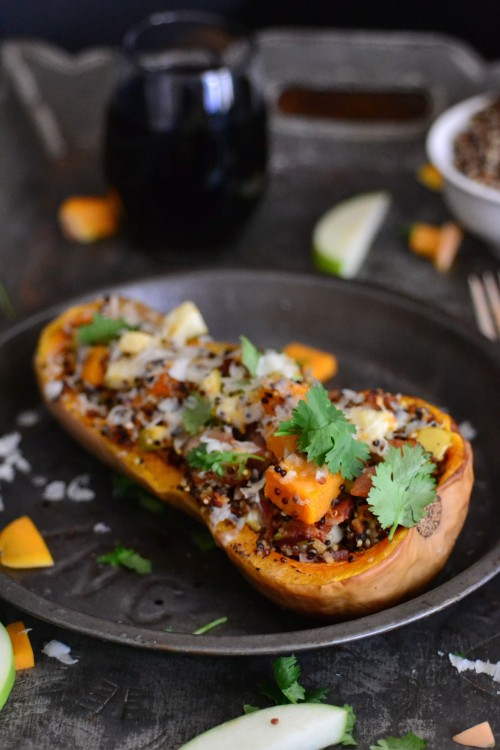 simple stuffed squash