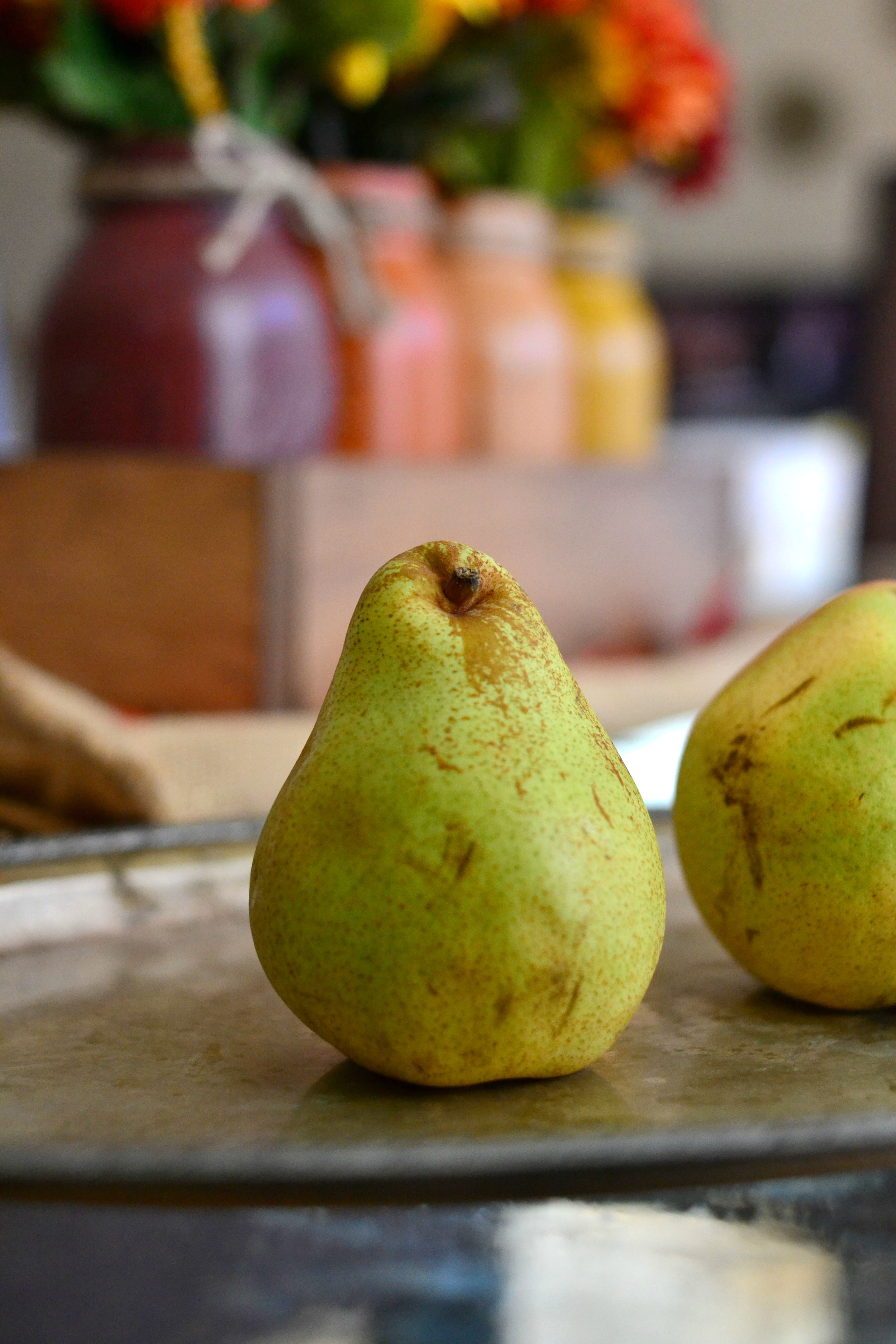 will be able to make these beautiful roasted pears with pomegranates ...