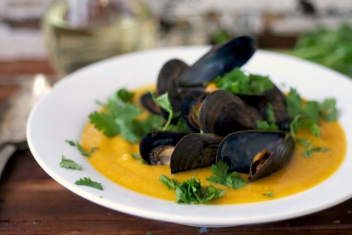 mussles with bisque