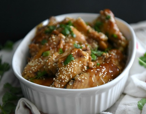 Amazing soy glazed chicken wings