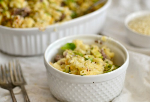 Cheesy sprout mac n cheese