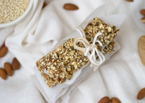 Easy pumpkin seed and almond granola bars