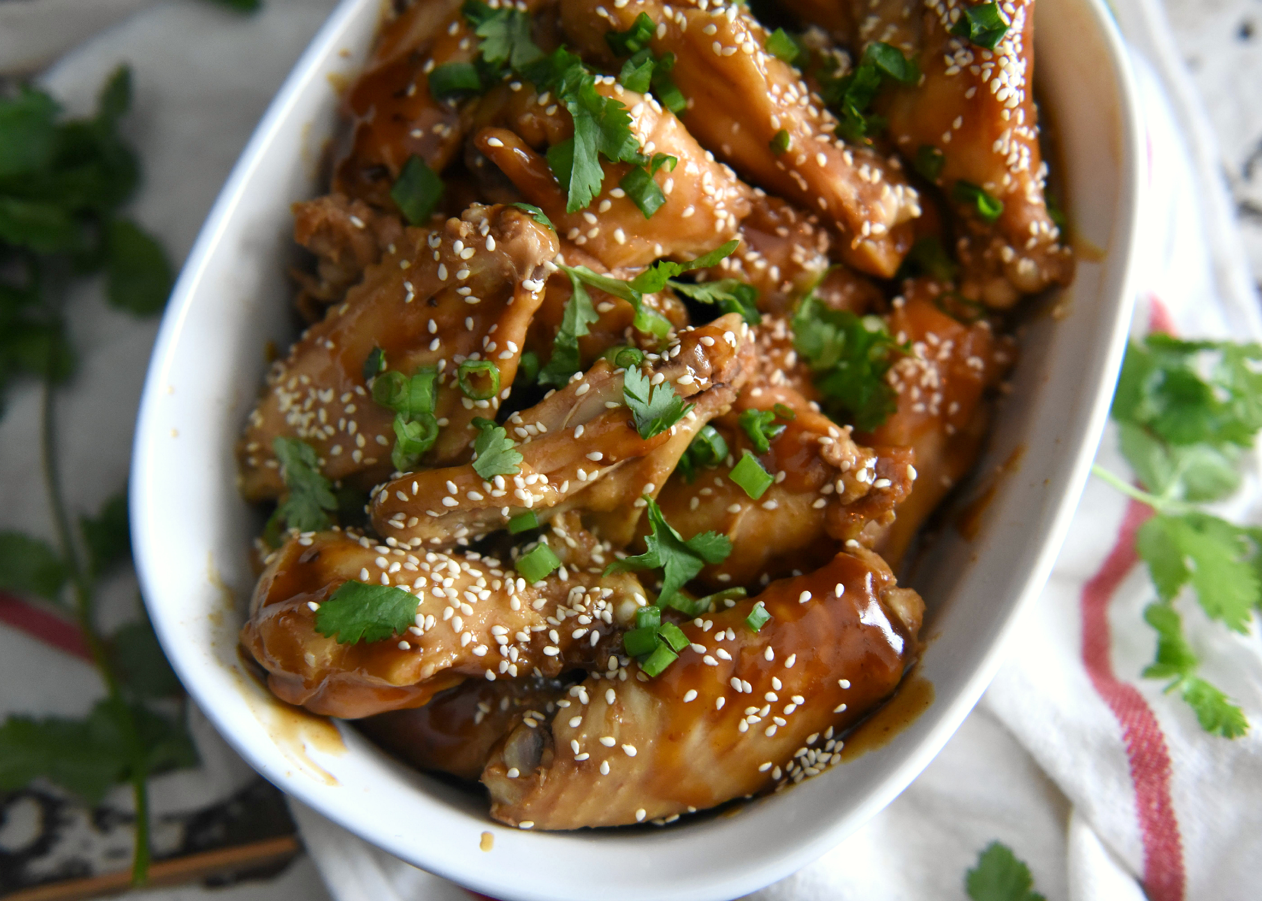 sesame soy glazed chicken wings