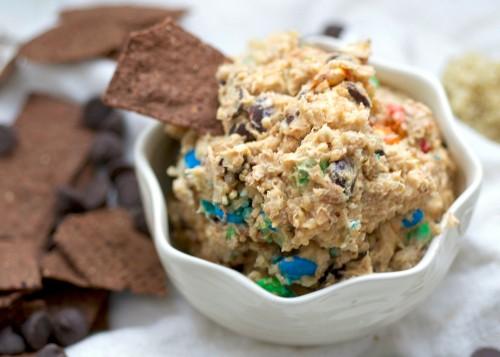 chunky quinoa chocolate dip