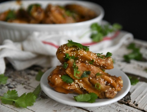 sticky soy glazed wings