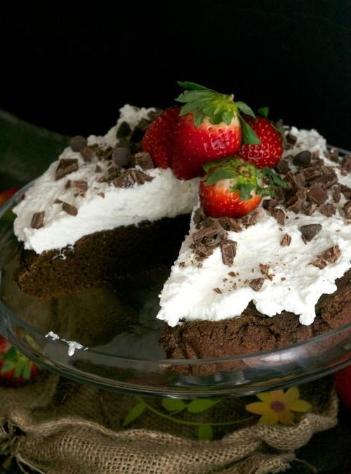 fudgy avocado cake