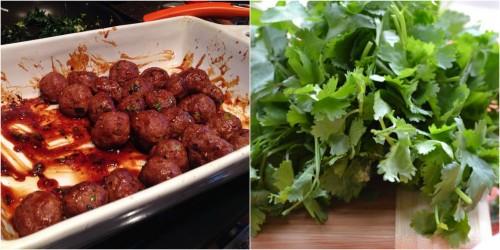 meatballs cilantro
